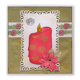 Candle Outline + MASK <br/>Unmounted Clear Stamp Set