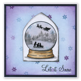 Snow Globe Outline + MASK Unmounted Clear Stamp Set