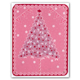 Christmas Tree <br/>A5 Square Groovi Plate <br/>(Set GRO-CH-40057-03)