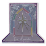 Star Window <br/> A5 Square Groovi Plate <br/> (Set GRO-CH-40424-03)