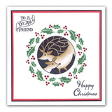 "Christmas Wreaths Stencils 7"" x 7"" (Set of 4)"