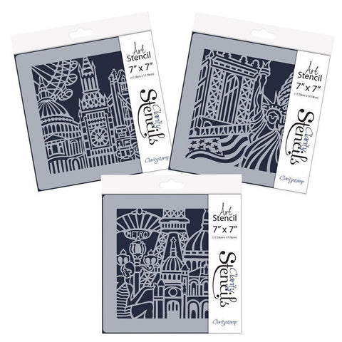"City Skylines Stencil Collection 7"" x 7"""