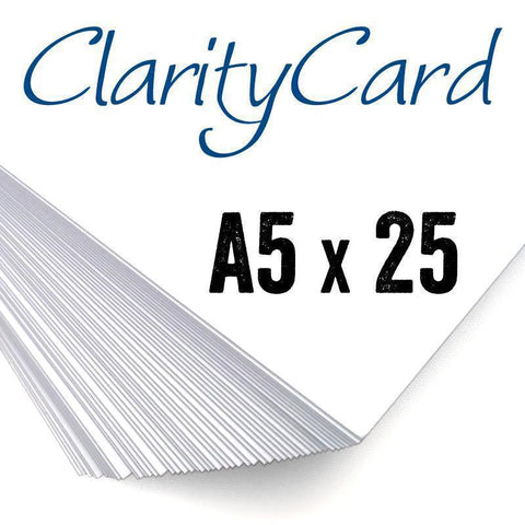 Clarity Card <br/> White Coated A5 Card x25 <br/> (UK & EU Only)
