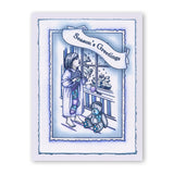 "Jayne's Postcard Framer + MASKS Unmounted Clear Stamp Set + 7"" x 5"" Mega Mount"