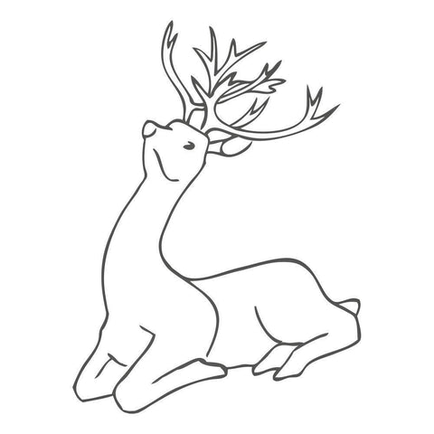 Large Deer Sitting ClarityMask