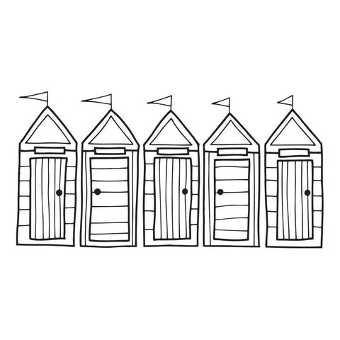Row Of Beach Huts ClarityMask