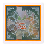 Clocks & Cogs <br/>A5 Square Groovi Plate Set
