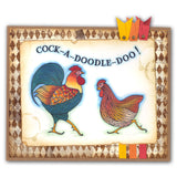 Cockerel & Hen + MASK <br/>Unmounted Clear Stamp Set
