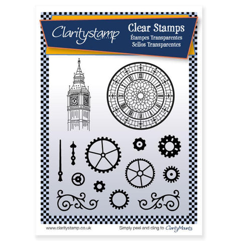 Clocks & Cogs <br/>Unmounted Clear Stamp Set