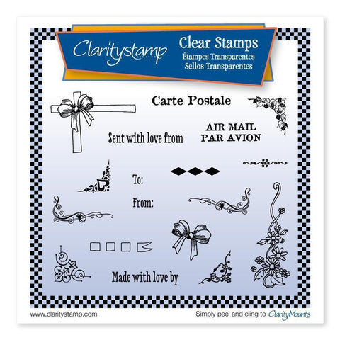 Corners & Flourishes <br/>Unmounted Clear Stamp Set