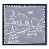 Country Cottage & Winter Landscape <br/>A5 Square Groovi Plate Set