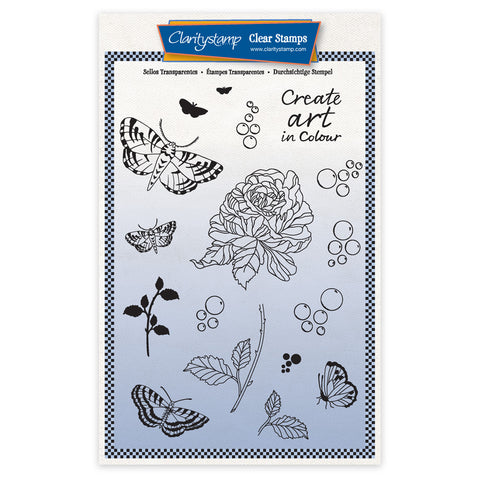Cherry's Create Art in Colour Elements A5 Unmounted Stamp & Mask Set