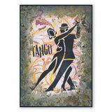 Dance Words Stencil A5