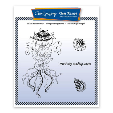 Cherry's Under the Sea - Jellyfish Unmounted Clear Stamp Set