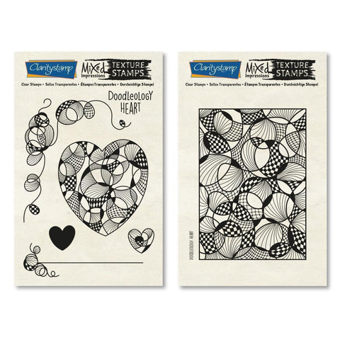 Doodleology Heart - Mixed Impressions <br/>Unmounted Clear Stamp Set