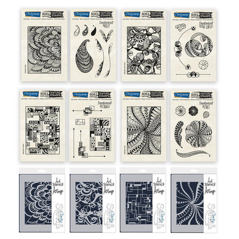 Doodleology Mixed Impressions Stamp & Stencil Bundle 2