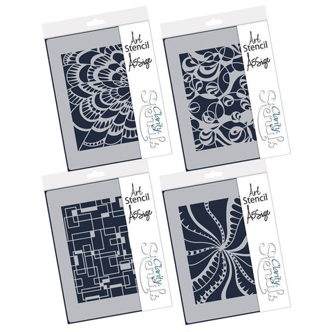 Doodleology Set of 4 Stencils A5