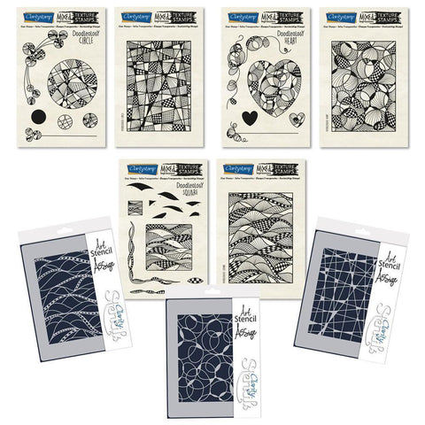 Doodleology - Mixed Impressions <br/>Stamp & Stencil Bundle