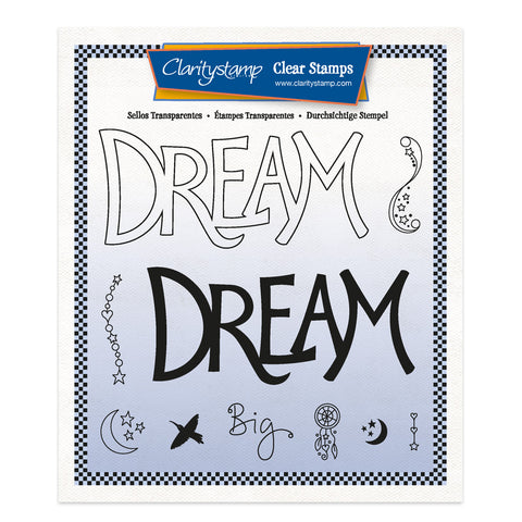 Dream - Feel Good Words 2 Way A5 Square Stamp & Mask Set
