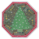 During this Christmas Verses A5 Square Groovi Plate Set