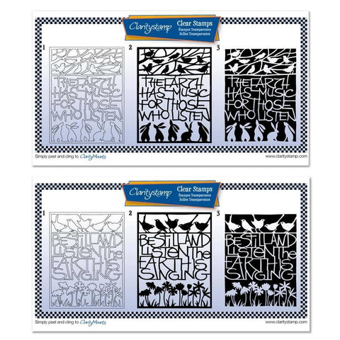 The Earth Has Music & Be Still And Listen 3-way Overlay Stamp Sets