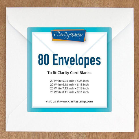 White Envelopes for Card Blanks Bundle