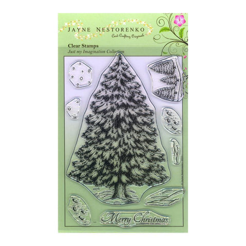 Evergreen Tree Unmounted Clear Stamp Set