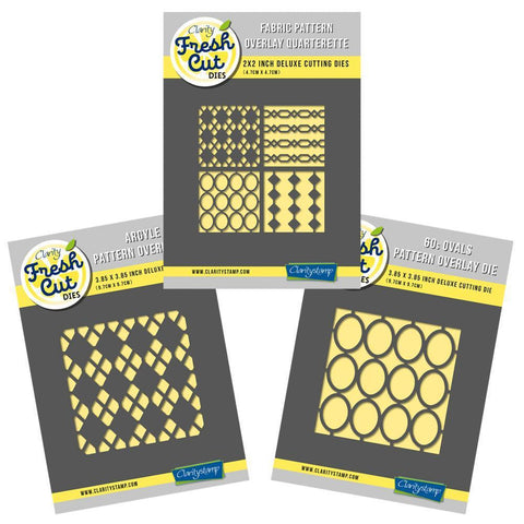 Fabric Pattern Overlay Trio - Aperture Clarity Fresh Cut Die