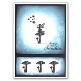 Wee Folk 3 Fairies <br/>Unmounted Clear Stamp Set