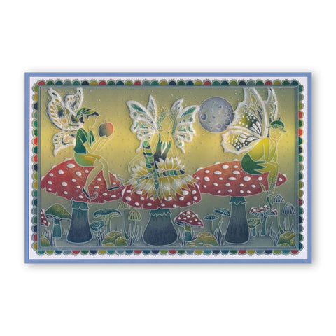 Clarity Stamps Groovi Parchment Embossing A6 Plate Fairy 1