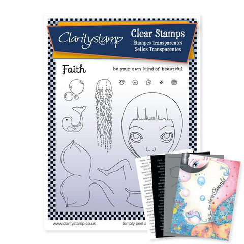 Dee's Friends - Faith <br/>Unmounted Clear Stamp Set <br/>+ MASK & 2x Phrase Sheets