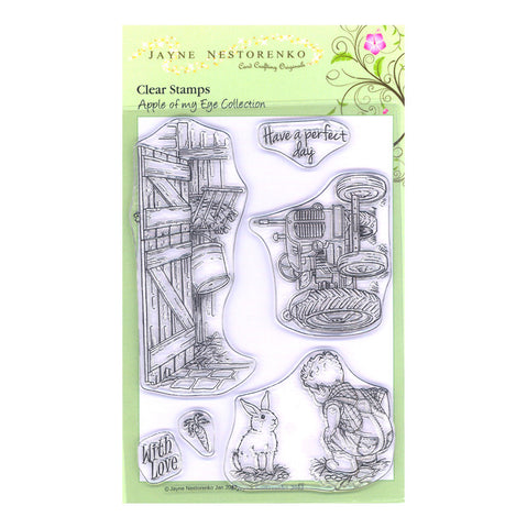Farm Boy Unmounted Clear Stamp Set