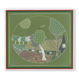 Farmhouse Scene & Textures <br/> A5 Square Groovi Plates (Set of 2)