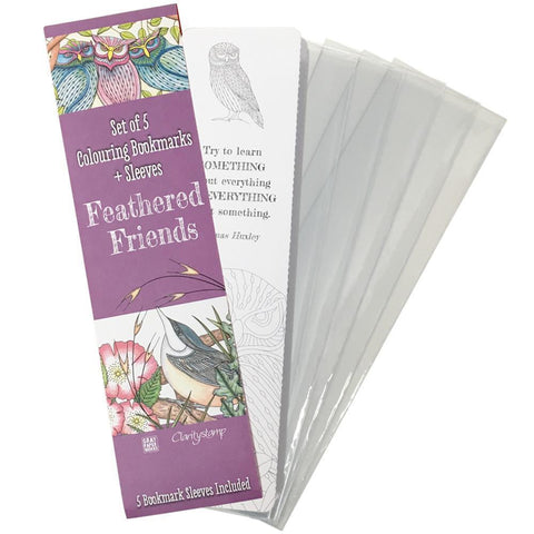 Colouring Bookmarks - Feathered Friends Collection