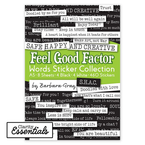 Feel Good Factor Words Sticker Collection