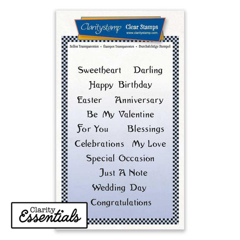 Essential Sentiments <br/>Unmounted Clear Stamp Set