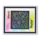 Floral Flourish Three Way Overlay <br/>Unmounted Clear Stamp Set