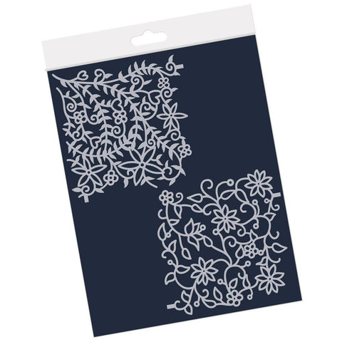 Floral Flourish & Forest Frameless <br/>4 x 4 Inch Petite Stencil Set