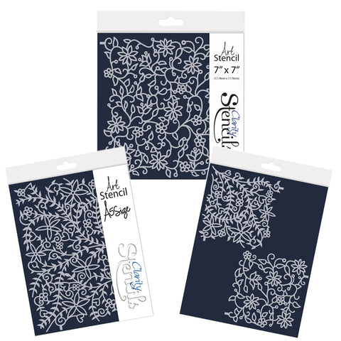 Floral Flourish & Forest Frameless Stencil Collection