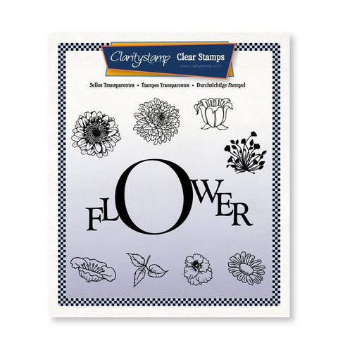 Flower Frame Unmounted Clear Stamp Set