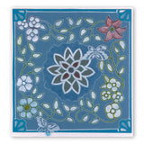 Flower Tangles <br/>A5 Square Groovi Plate Set