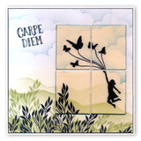 Flutterby Carpe Diem Unmounted Clear Stamp Set
