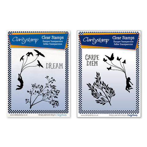 DEUTSCH Fly Away & Carpe Diem Stamp Sets