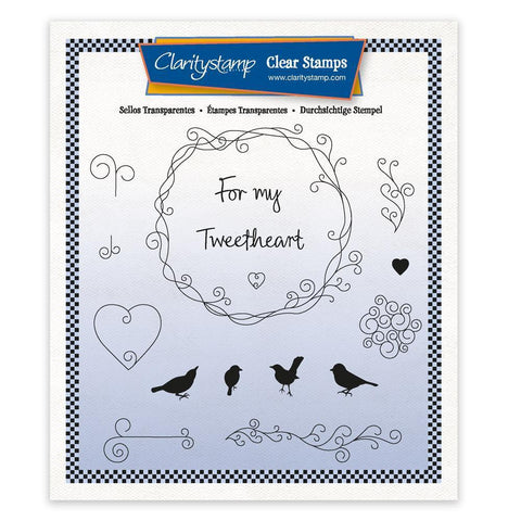 For My Tweetheart - A5 Square Unmounted Stamp Set