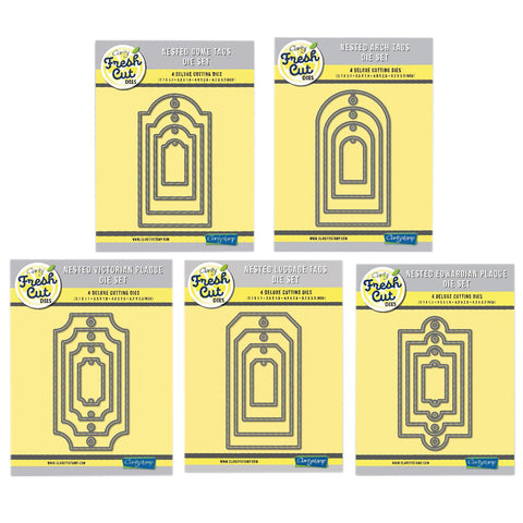 Nested Tags & Plaques Clarity Fresh Cut Dies Collection