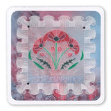 Frilly Square & Friends A5 Square Groovi Plate Set
