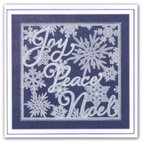 Snowflakes & Xmas Words Groovi® Plates A5 (Set of 2)