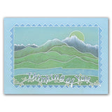 Mountains & Hills <br/>A5 Square Groovi Plate