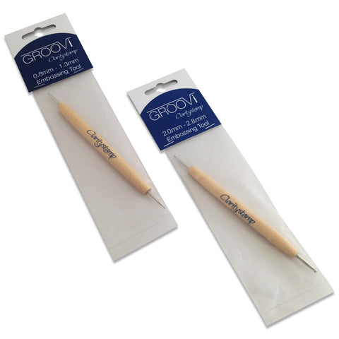 Groovi® Embossing Tools 0.8mm & 2.0mm (Set of 2)