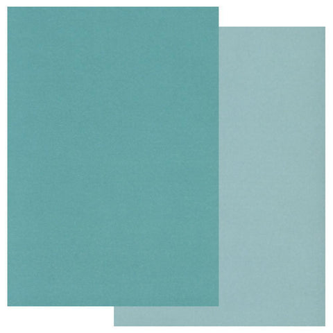 Teal x20 Groovi Two Tone Parchment Paper A5